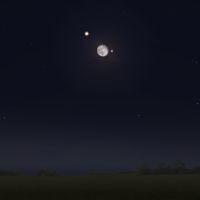 Mond - Mars - Spica