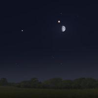 Spica - Mond - Mars