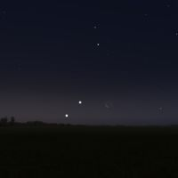 Venus - Jupiter - Mond
