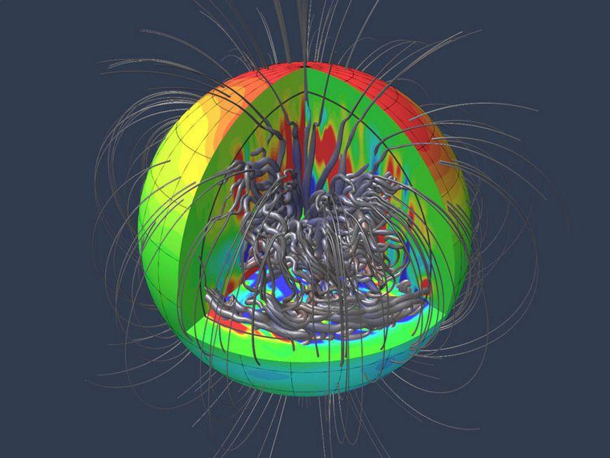 Раскрыта загадка магнитного поля Юпитера (2 фото)
